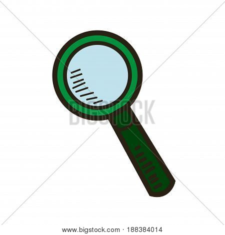 magnifier glass zoom find search image vector illustration