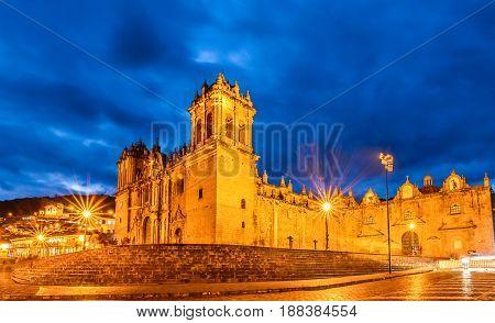 Cathedral Church Plaza De Armas Cuzco Peru