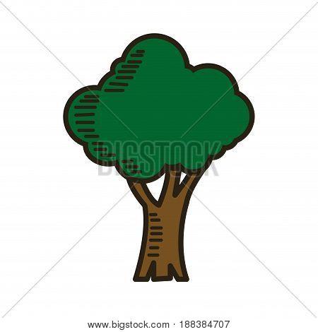 green tree cartoon ecology environment natural vector illustration