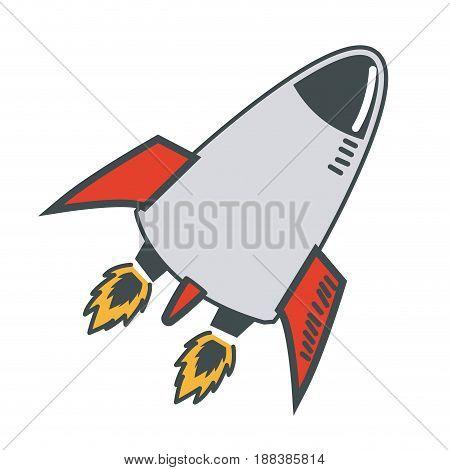 rocket launch start up business innovation image vector illustration