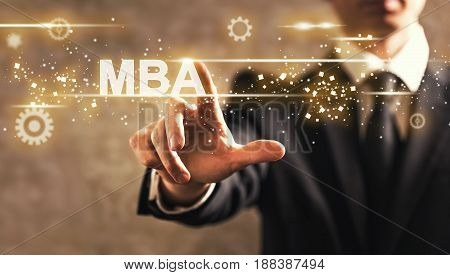 Mba Text With Businessman