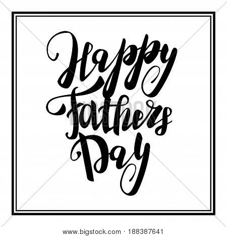 Greeting dad. Happy fathers day. Vector hand drawn calligraphy lettering type. Cute comic text font label invitation. Cute celebration retro poster card for daddy. Mans holiday in june.