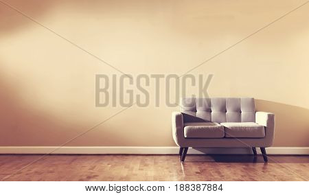 Large Luxury Interior Home With Loveseat