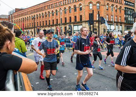 Half Marathon In Manchester, Uk