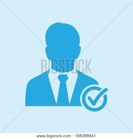 Add user sign icon. Add friend symbol. Flat design style.