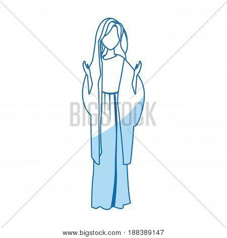 saint virgin mary religion catholic image vector illustration