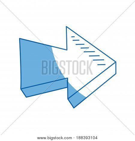 arrow direction orientation web button icon vector illustration