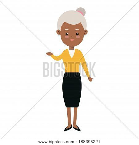 character woman femlae adult parent family member vector illustration