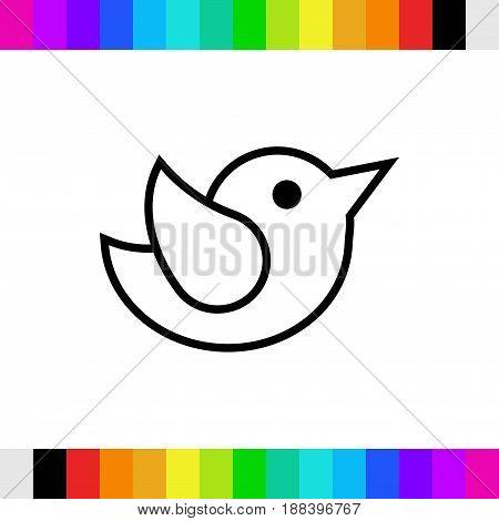 bird icon stock vector illustration flat design
