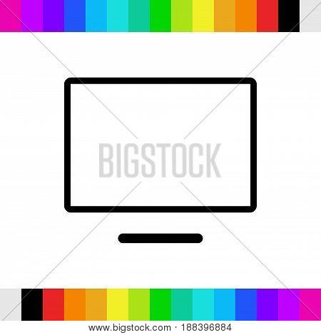 computer monitor icon stock vector illustration flat design
