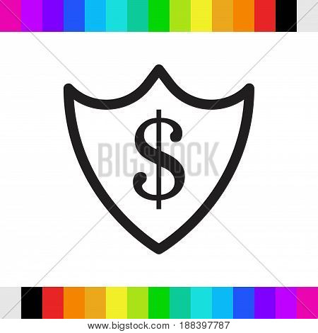 protection money icon stock vector illustration flat design