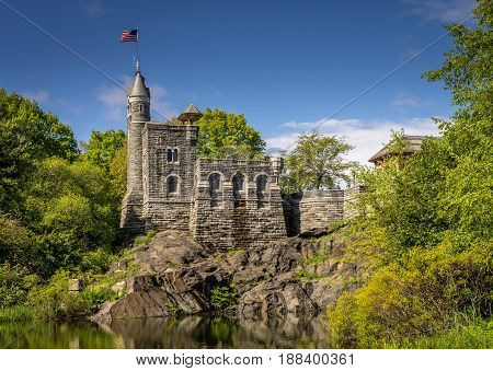 Belvedere Castle in Central Park New York City.