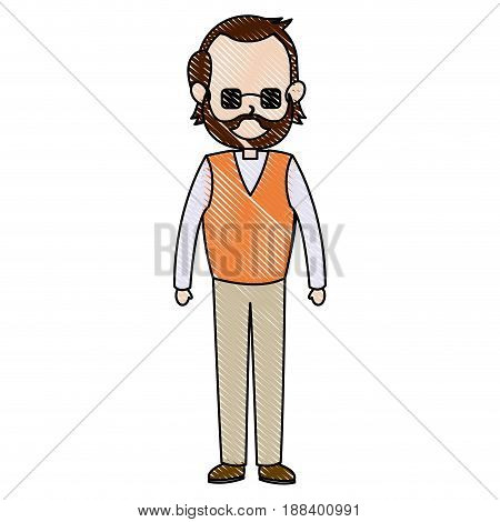 father dad male member of family vector illustration