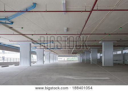 Parking garage interior industrial buildingempty space car park interior