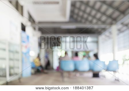 Blurred background Patient waiting for see doctor abstract background
