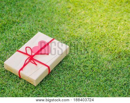 beautiful gift box female giving gift Christmas holidays and greeting season concept shallow dof