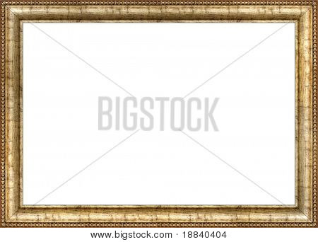 Antique wooden frame with guilded pattern poster