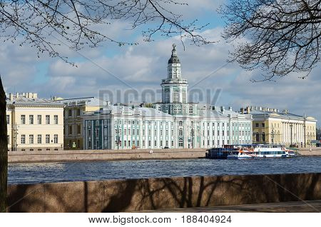 Russia.Saint-Petersburg.The famous city Museum Kunst-camera.Founded by Peter the great.