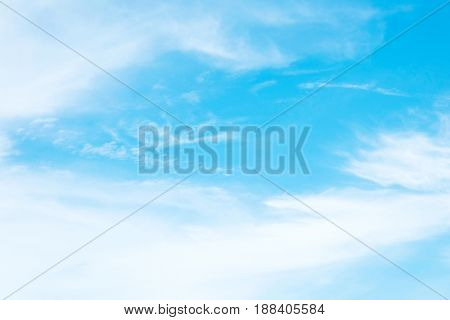 Blue sky and cloud on sunny day background nature