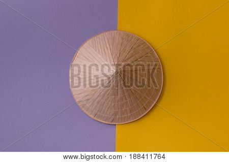 Conic Hat On Purple And Yellow
