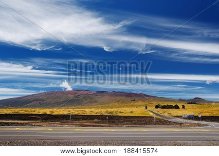 Mauna Kea, A Dormant Volcano On The Island Of Hawaii, Usa