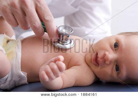 Close-Up Of A Newborn