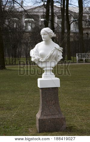 Saint Petersburg, Russia,may 07, 2017:Marble sculpture from the Catherine Park in Pushkin