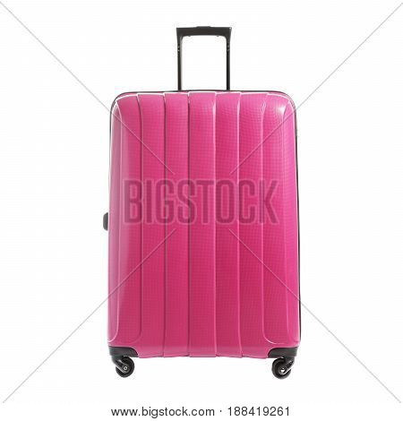 Spinner Trunk Isolated On White Background. Vip Trolley Bag. Trolley Travel Bag. Trolley Luggage Bag