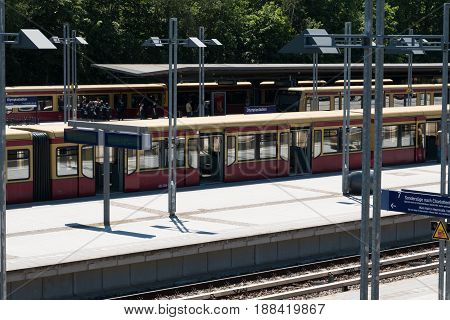 S-bahn Trains At  Train Station In Berlin