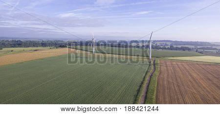 Westmill Wind Farm near Swindon in Wiltshire
