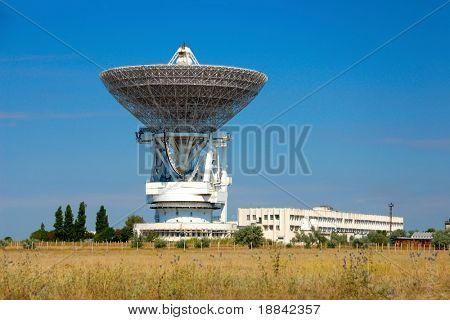 Parabolic dish at space control center