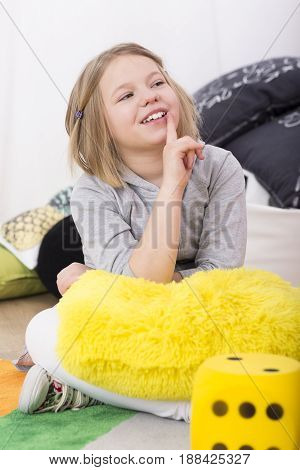 Little Girl Smiling At Teacher