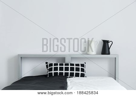 Bed With Bedding And Cushion