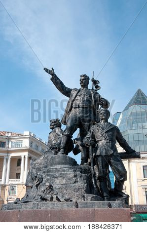 Russia Vladivostok April 7: Monument to the Fighters for the Power of Soviets in the Far East