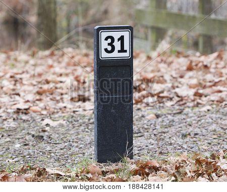 Sign Displaying 31