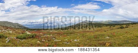 The Nature Of The Southern Urals. After The Rain. Summer In The Mountains. Panorama Of A Beautiful S