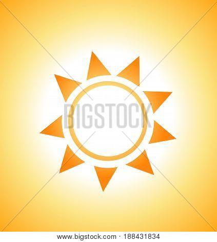 illustration of sunrise sun abstract colored design