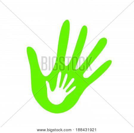 hand helping illustration vector illustration on white