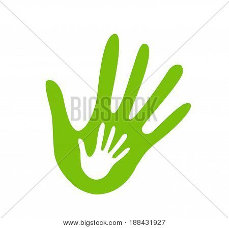 hand helping illustration illustration on white background