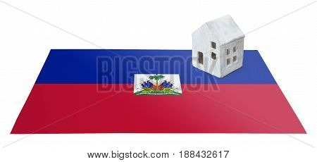 Small House On A Flag - Haiti