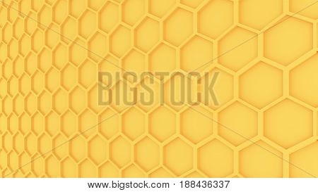 The Honeycomb pattern graphic a 3D illustration