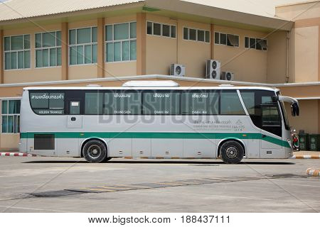 Golden Dragon Bus Of Greenbus Company. Route Between Chiangmai And Golden Triangle.