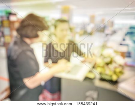 Abstract Blurred Image Of  Two Education People Talking About Thesis Thesis Proposal Or Discussion S
