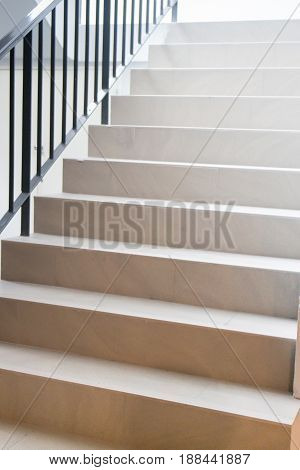 Empty Room With Concrete Steps stock photo