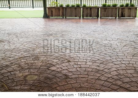 Stone Brick Pavement Texture Background stock photo