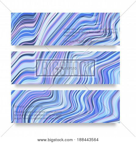 Vector warped lines background.Colorful abstract stripes vector illustration. Glitch color waves background banners with frame and shadow.