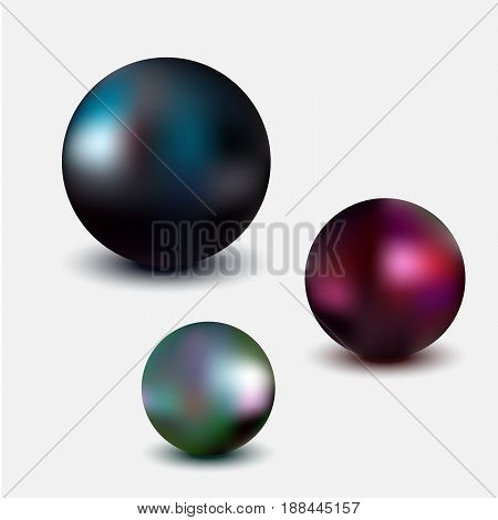 Metallic sphere, realistic vector illustration on white background