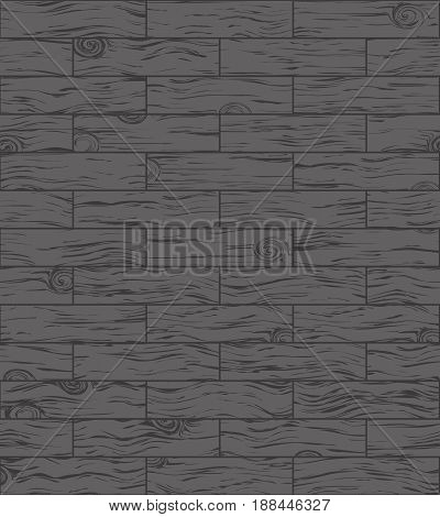 Dark wooden floor, parquet may used as background. Vector illustration