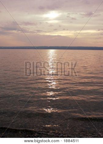 Sonnenuntergang auf See Ammersee