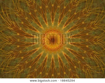 abstract fractal background created with